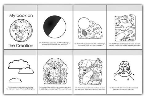 days of creation coloring pages 6 days of creation pictures pages of coloring book