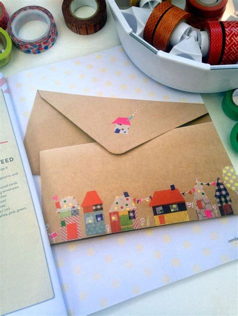 Handmade Envelope Decoration - envelope decoration idea would also make a neat