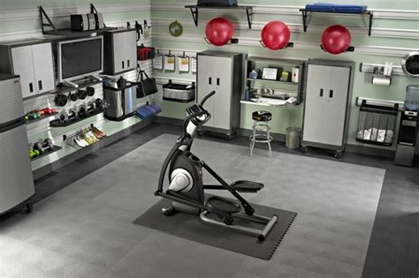 garage remodel to gym and living spaces ideas with white garage gym design ideas cool home fitness ideas