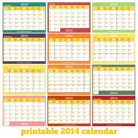 free printable monthly calendar pages 2014 calendar html