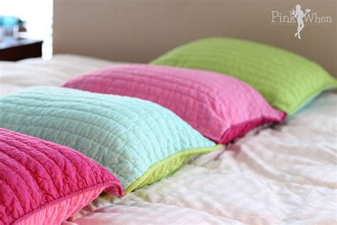 bed shams 22 darling diy pillow projects