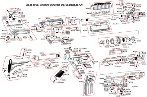 m4 parts diagram 6 best images of m4 parts diagram m4 carbine parts