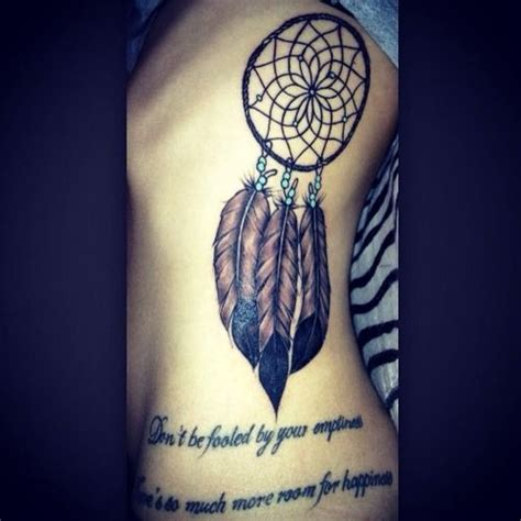 dreamcatcher rib tattoo meaning dreamcatcher tattoo on the ribs quot don t be fooled by your