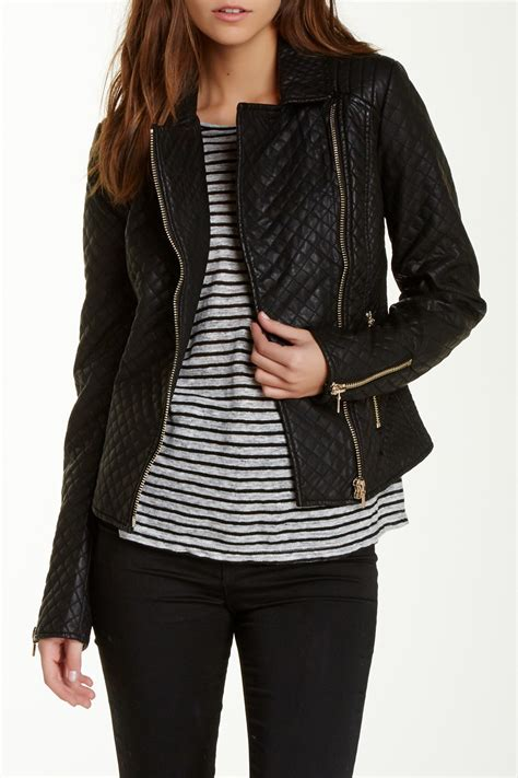Quilted Faux Leather Jacket by Token Quilted Faux Leather Jacket Nordstrom Rack