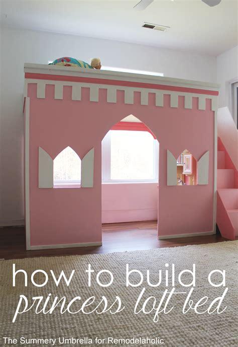 princess castle loft bed remodelaholic how to build a princess castle loft bed