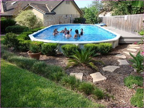 above ground pool backyard landscaping ideas dragonswatch us