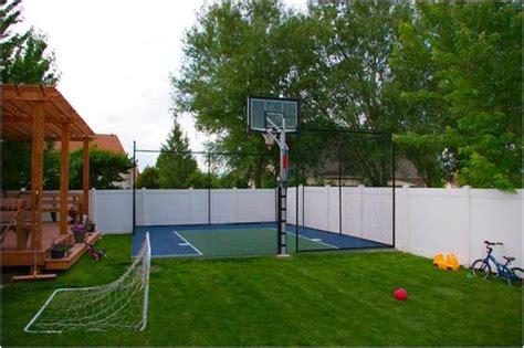 backyard sport court backyard basketball court ideas to help your family become chs bored art