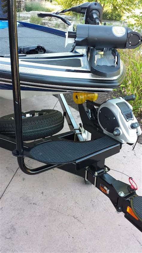 boat trailer winch step winch step and handle