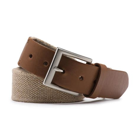 g h bass co fabric stretch belt in brown for lyst
