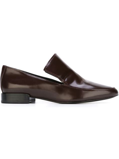 louie loafers 3 1 phillip lim louie leather loafers in brown lyst
