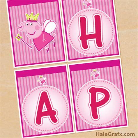 free printable birthday banner peppa pig free printable princess peppa pig birthday banner