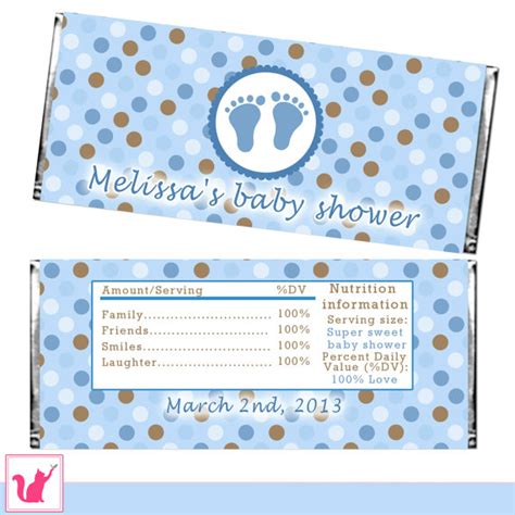 baby shower wrappers templates free bar wrapper printable personalized baby boy shower