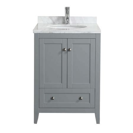 best prices on bathroom vanities eviva lime 174 24 quot bathroom vanity chilled grey with white