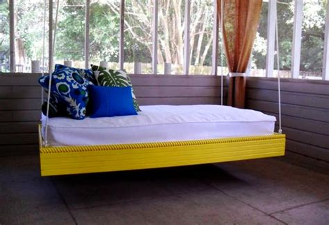 12 Diy Swing Bed Ideas To Enjoy Floating In Mid Air Homecrux Outdoor Furniture Bed