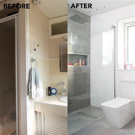 tiny en suite  supersized shower