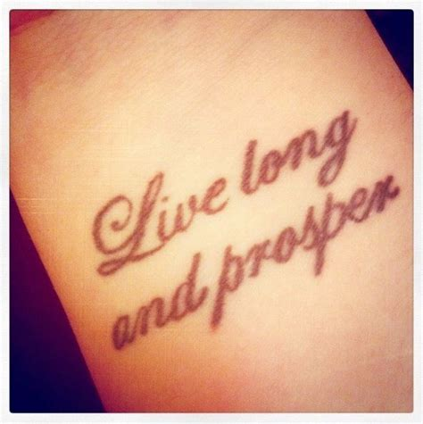 live long and prosper tattoo my beautiful live and prosper wrist not