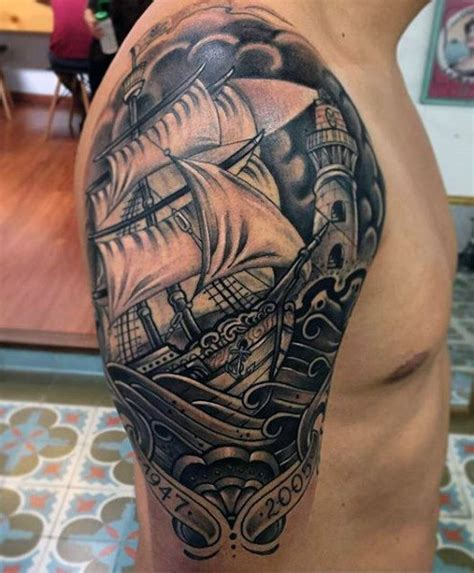 ship tattoos for men 70 ship ideas for a sea of sailor designs