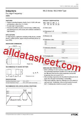 tdk capacitors datasheet mlg1608 datasheet pdf tdk electronics