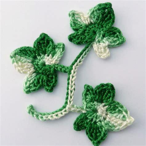 Crochet Pattern Ivy Leaf | crochet applique 1 ivy stem with 3 leaves in v folksy