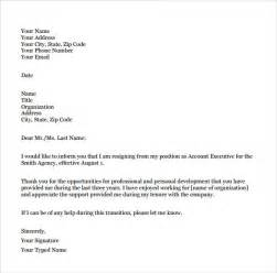 Resignation Letter Model For Nurses Sle Resignation Letter Format 9 Free Documents In Pdf Word