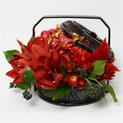 new year flower basket fresh blooming flowers are traditionally displayed around