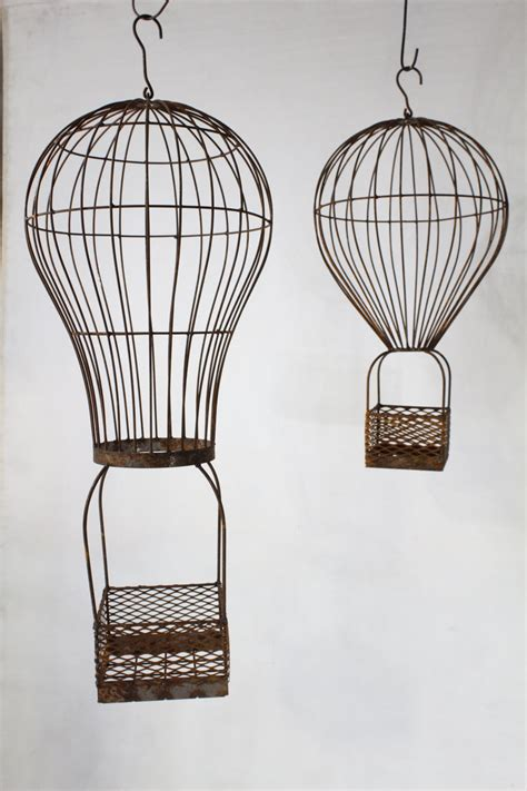 Air Balloon Planter by Wrought Iron Air Balloon Planters Hanging Baskets