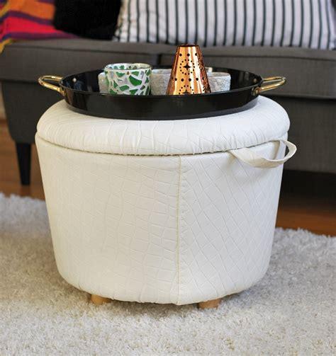Pouf Ottoman Diy by Diy Storage Ottoman Rags To Couture