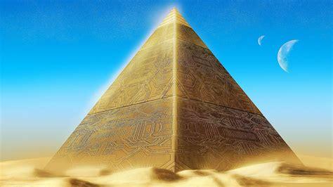 gold digital art pyramids pyramid wallpaper