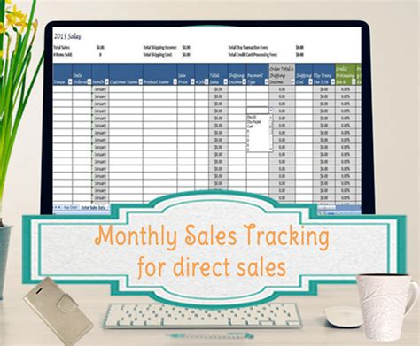Sales Template Monthly Sales Tracking Template Direct Sales Sales Tracking Template