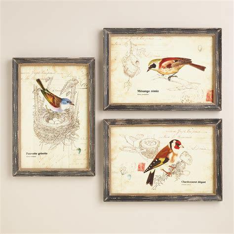 wall decor sets nature birds wall set of 3 world market