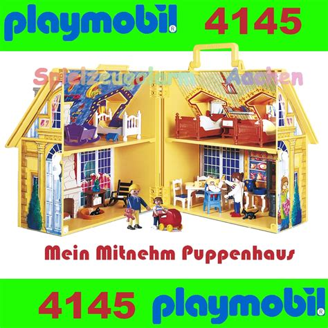 playmobil dolls house playmobil 4145 doll house to go take along ebay