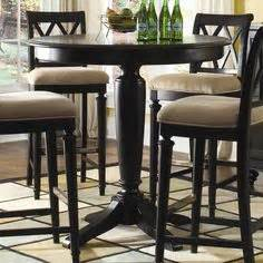 Pub tables and chairs dark wood counter height bar table design with