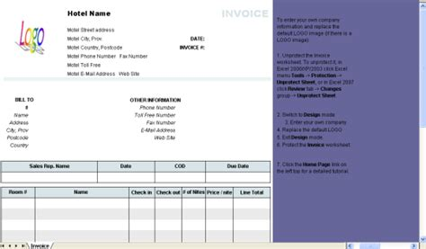 Hotel Invoice Template Free Download And Software Reviews Cnet Download Com Hotel Review Template