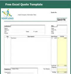 Quote Templates Free by Free Excel Quote Template Excel Help Desk