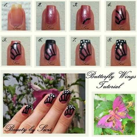 Nail Butterfly Step By Step