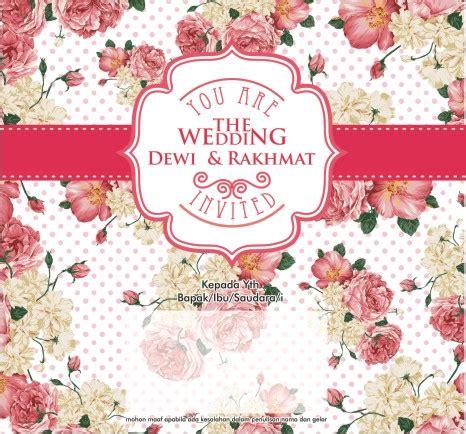 desain bunga cdr percetakan undangan pernikahan surabaya