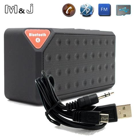 Speaker Bluetooth X3 m j mini bluetooth speaker x3 tf usb fm radio wireless portable sound box subwoofer