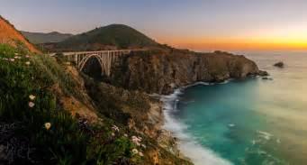 Flowers Santa Cruz Ca - photography nature landscape sunset sea bridge coast