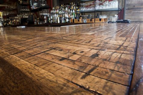 reclaimed wood bar top close up of reclaimed boxcar plank bar top rustic home bar charleston by