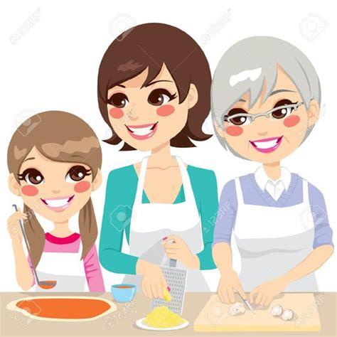 mama e hija cocinando mama e hija amasando dibujo buscar con google madre e