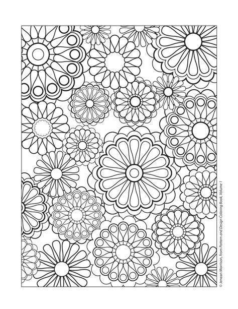 Printable Coloring Pages Adults Patterns Hard Pattern Coloring Pages Pattern