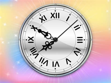 colour clock themes 7art color therapy clock screensaver charge your mood