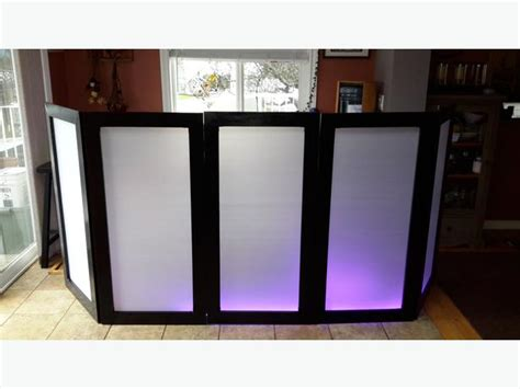 diy dj table led backlit facade west shore langford