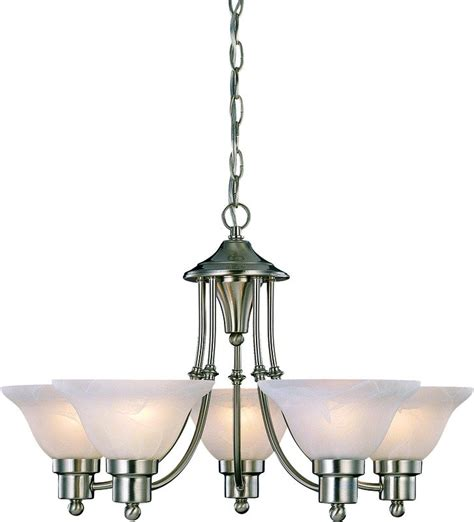 Five Light Chandelier Hardware House 544452 Bristol 5 Light Chandelier Brushed Nickel Home Improvement