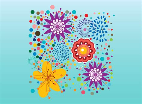 colorful design colorful floral designs vector www imgkid the