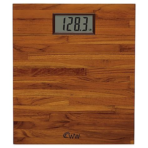 weight watchers bathroom scales weight watchers 174 by conair teak digital bathroom scale bed bath beyond
