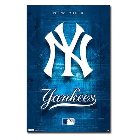 Home Decor Tampa by New York Yankees Logo 11 Wall Poster