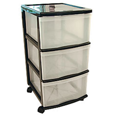 gracious living 3 drawer mobile storage cart 26 34 h x 16