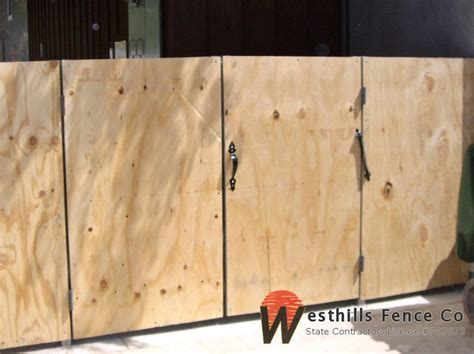 Plywood Board Gates
