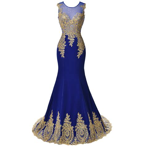 pattern for black lace dress 2017 new design gold embroidery mermaid evening dresses